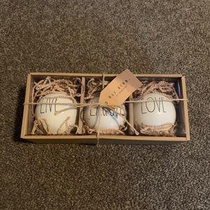 Rae Dunn Ornament Boxed Set - Live Laugh Love